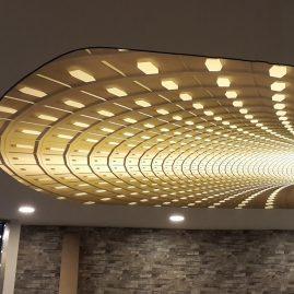 3D motief spanplafond